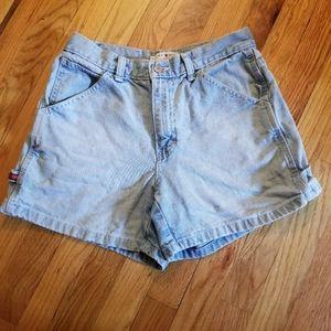Tommy Hilfinger Light Wash High Waisted Shorts